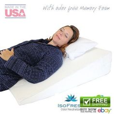details about wedges body positioners acid reflux pillow memory foam back pain support sleep