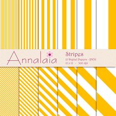 INSTANT DOWNLOAD Digital Paper Pack Amber Yellow by annalaia2, $3.00