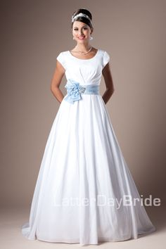 Modest Wedding Dress, Easton | LatterDayBride & Prom. Modest Mormon LDS Temple Dress