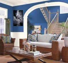 Living Room Blue And Brown