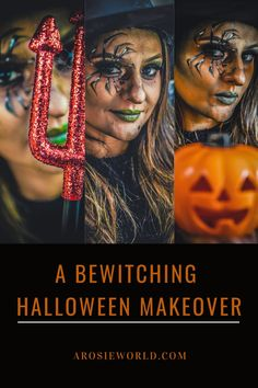 I love the spooky season! I'm really excited to share this post with you all – creating a bewitching halloween makeup look. This year, we have no choice but to WFH (Witch From Home)! Green Lips, Black Smokey Eye, Dark Look, Brown Eyeshadow, Halloween Makeup Looks, Blog Love, Scary Movies, Dream Team, Mom Blogs