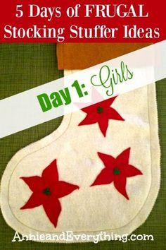 Need CHEAP stocking stuffer ideas for your family? Read my entire five-day series! This is day 1, which lists great stocking stuffers for girls.