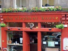 The Elephant House in Edinburgh, Scotland. (J.K. Rowling wrote Harry ...