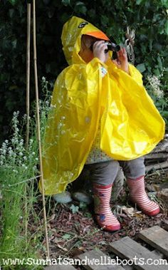 20 Ways to Play in the Rain.  I don't care that I'm an adult. I love playing in rain.