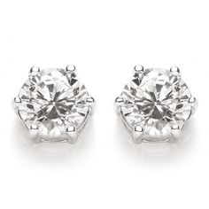 Brilliant Cut One Carat Stud Earrings ($38) ❤ liked on Polyvore featuring jewelry, earrings, stud earrings and stud earring set