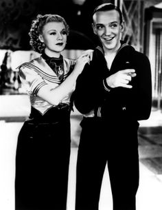 Ginger Rogers and Fred Astaire in Follow the Fleet (1936)