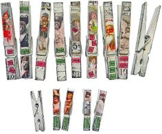 altered clothes pins   Altered clothespins