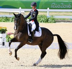 Charlotte Dujardin and Valegro in the Grand Prix Freestyle to win Olympic individual gold. © 2016 KLen Braddick/dressage-news.com