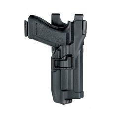 BlackHawk Level 3 Duty SERPA Light Bearing Belt Holster (Xiphos Only), Fits Glock 17/19/22/23/31/32, Right Hand, Matte Finish, Black