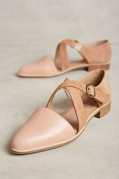 $130 | KMB Cross Strap D'Orsay Flats #anthropologie