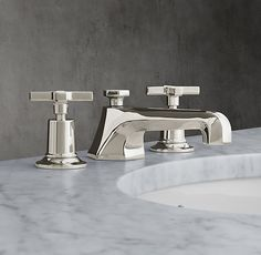 "1930 Mackintosh Cross-Handle 8"" Widespread Faucet"