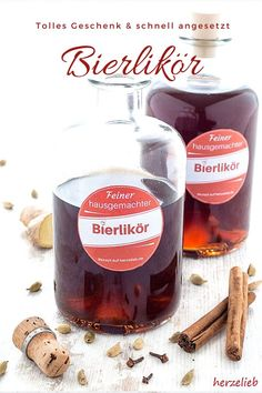 Bierlikör – so lecker und süffig, der ist auch was für einen Mädelsabend! Gift from the kitchen, liqueur Recipes: Recipe for a beer liqueur. Nice and tasty and not just something for men. This beer liqueur is also something for a girls evening! Party Drinks, Cocktail Drinks, Cocktails, Kenwood Cooking, Drink Tags, Liqueur, Drinks Alcohol Recipes, Cooking Games, Cooking Classes