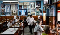 Cuartito restaurant, a traditional pizza restaurant in Buenos Aires. Photograph: Alamy