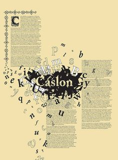 Caslon typography poster