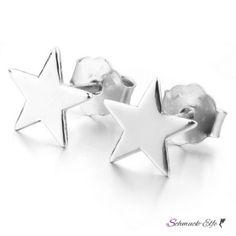 1 Paar Stern Ohrstecker 925 Silber rhodiniert im Etui