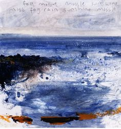 Fog, mist Kurt Jackson's sketchbooks: the soul of a place Textiles Sketchbook, Artist Sketchbook, Sketchbook Ideas, Kurt Jackson, Seascape Paintings, Oil Paintings, Japanese Artists, Mixed Media Canvas, Beach Art