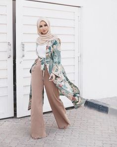 Style hijab outfit muslim 63 Ideas for 2019 Islamic Fashion, Muslim Fashion, Modest Fashion, Hijab Fashion Casual, Hijab Fashion Summer, Modest Wear, Modest Dresses, Hijab Outfit, Turban Outfit