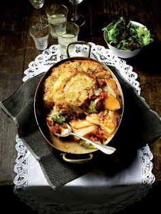 Gratin van knol kool en pompoen: 25 vega recepten | ELLE Eten Paella, Quiche, Foodies, Vegetarian Recipes, Meals, Dinners, Vegetables, Cooking, Breakfast