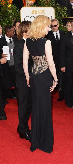 Nicole Kidman Golden Globe 2012 in Alexander McQueen Black Dress.