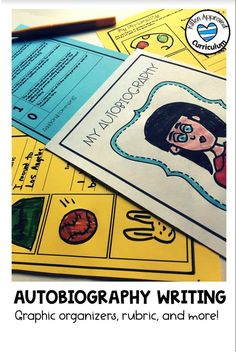 These fun autobiography writing templates for upper elementary or middle school students come with outlines, tips, and rubrics. Great prompts for open house or about me lessons. Kids will love to write biographies about themselves, and teachers will love teaching and learning about each student's life. 6th Grade Activities, Language Activities, Writing Activities, Classroom Activities, Sensory Language, Teaching Narrative Writing, Essay Writing Skills, Writing Lessons, Opinion Writing