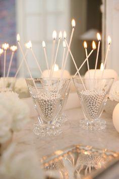 Great Gatsby Wedding Candle Light Style Idea!! www.MadamPaloozaEmporium.com www.facebook.com/MadamPalooza