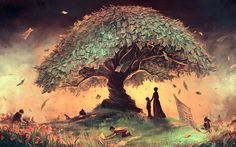 Tree Wallpaper Art   Wallpapers, Backgrounds, Images, Art Photos.