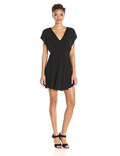 BCBGeneration Womens Kimono Sleeve Dress Black Large -- Click image to review more details.