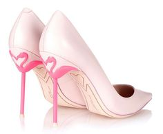 Pink Dress Shoes for Wedding Elegant Flamingo Pumps sophia Webster Coco Flamingo Heel Leather Pretty Shoes, Beautiful Shoes, Cute Shoes, Me Too Shoes, Sapatos Sophia Webster, Sophia Webster Shoes, Stiletto Shoes, High Heels Stilettos, Shoes Heels