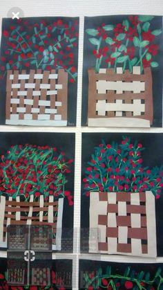 Autumn Crafts, Autumn Art, Weaving Projects, Art Projects, Painting For Kids, Art For Kids, Spring Art, Art Lessons Elementary, Art Classroom