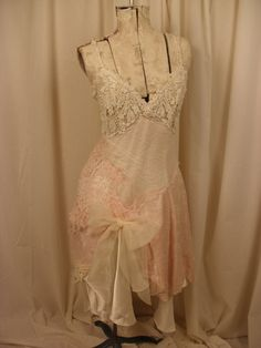 Beaded Slip Dress Dance me to the end of Love by ShatteredPrincess, $175.00