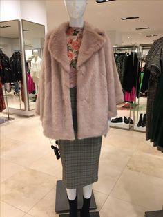 A little Zara edit on this blog post.  I love anything blush pink at the moment. #pink #fauxfur #pinkfauxfur
