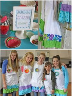 cupcake wars LOVE the aprons easy to buy plain white and add the ruffles.