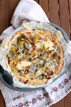 Leek and Blue Cheese Quiche - Torta salata con porri e gorgonzola | Un Pinguino in Cucina