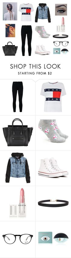 """""""Today Style For School"""" by directioners269 ❤ liked on Polyvore featuring Nobody Denim, Tommy Hilfiger, xO Design, Forever 21, H&M, Converse, Rodin, Humble Chic, Ray-Ban and Kenzo"""