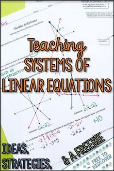 What do a treadmill and a gym membership have to do with teaching linear equations? A whole lot, says Teacher-Author Free to Discover. Math Teacher, Math Classroom, Teaching Math, Math For Kids, Fun Math, Math Resources, Math Activities, Math Games, Math Strategies