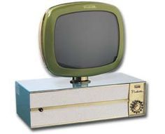 Space-age television.  vintage