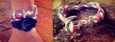 Plumeria Anchor Unisex Wrap Bracelet #handmade #sailor  Purchase it at https://www.facebook.com/plumeriajewelry