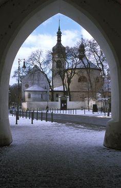 A calm wintry sight of Prague, Czech Republic.