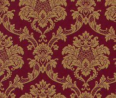 Trianon Neo Barock Retro VINYL Tapete 505368 rot gold Tapeten Rasch Trianon 2012                                                                                                                                                                                 Mehr