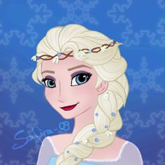 Braids and Flowers - Elsa by ~Safira-09 on deviantART