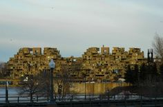Habitat 67 in Montreal.This was creative and brilliantly responsive to societal needs.  I loved touring this and wonder what ever happened to this concept.