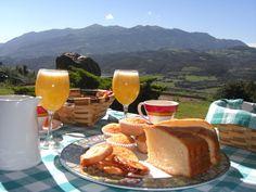 El desayuno en el Hotel Rural La Carbayera. En Lue