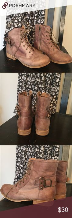 """Ankle boots Soo cute , """"Not Rated"""" ankle boots ❤️!  They go great with dresses 👗, shorts, jeans 👖, any outfit!! Love the distressed look!  Very soft and comfortable 😁 Not Rated Shoes Ankle Boots & Booties"""