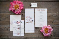 hand painted wedding invite