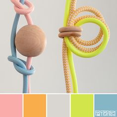 Knotted Neon #patternpod #patternpodcolor #color #colorpalettes