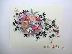 Paper Quilling Wall Decor by TipTopArtShop