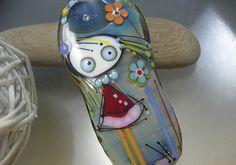 Melanie Moertel Lampwork Beads  Fairy without by melaniemoertel