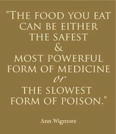 So true in todays world, many people dont really realize the crap they put into their bodies.
