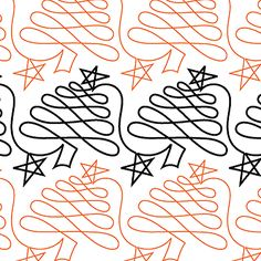 Christmas Doodle Trees - Digital - Quilts Complete - Continuous Line Quilting Patterns