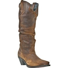 "L.o.v.e.  the leather 'star' detailing on this one!  Slouchy Cowboy Boot (by Dingo ""Muse"" Brown Shabby Slouch Leather)     